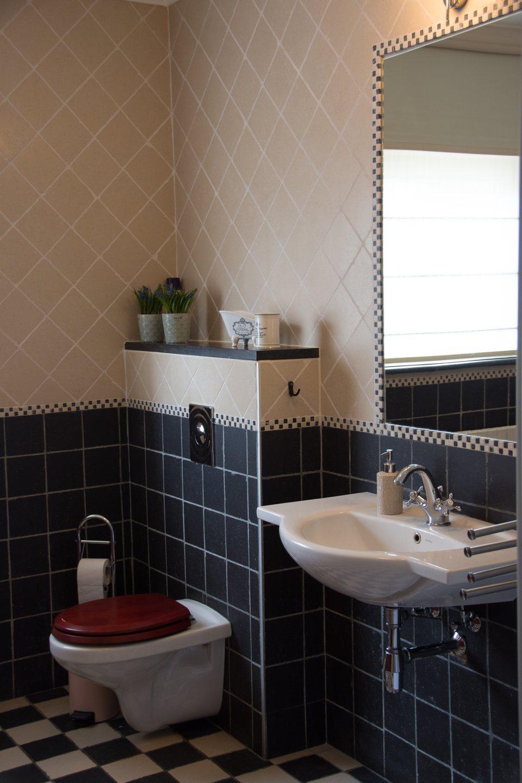 Hof der Heerlijckheid - badkamer 2 toilet en lavabo